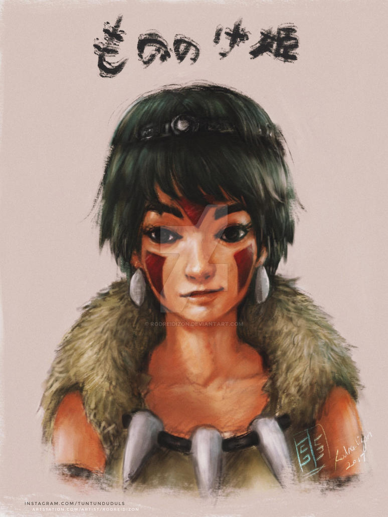 Mononoke of the Wolf Tribe by rodreidizon