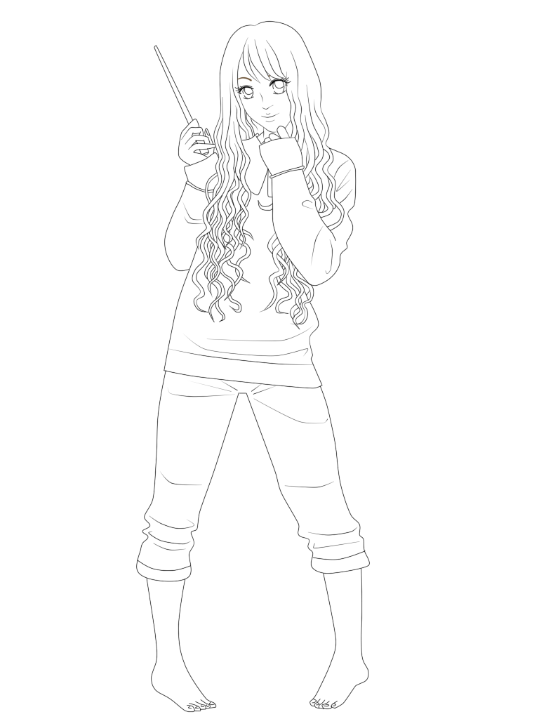 Luna Lovegood Lineart By OrinthiaLee On DeviantArt