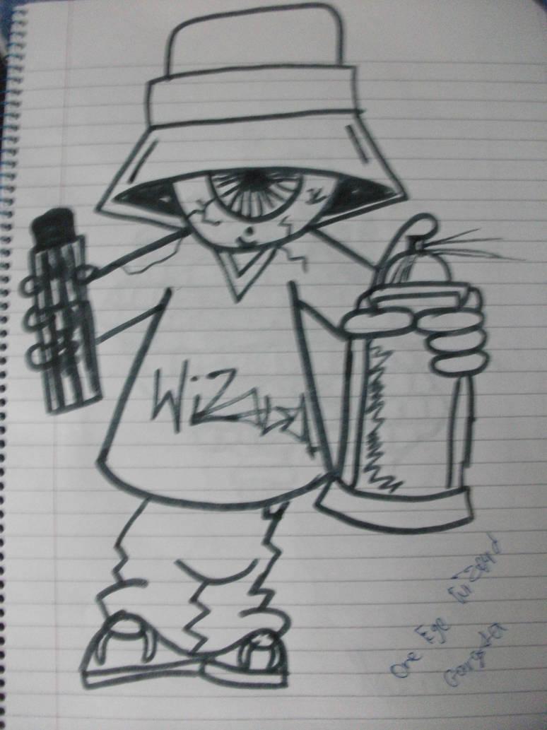 Graffiti character one eye gangsta by graffchar
