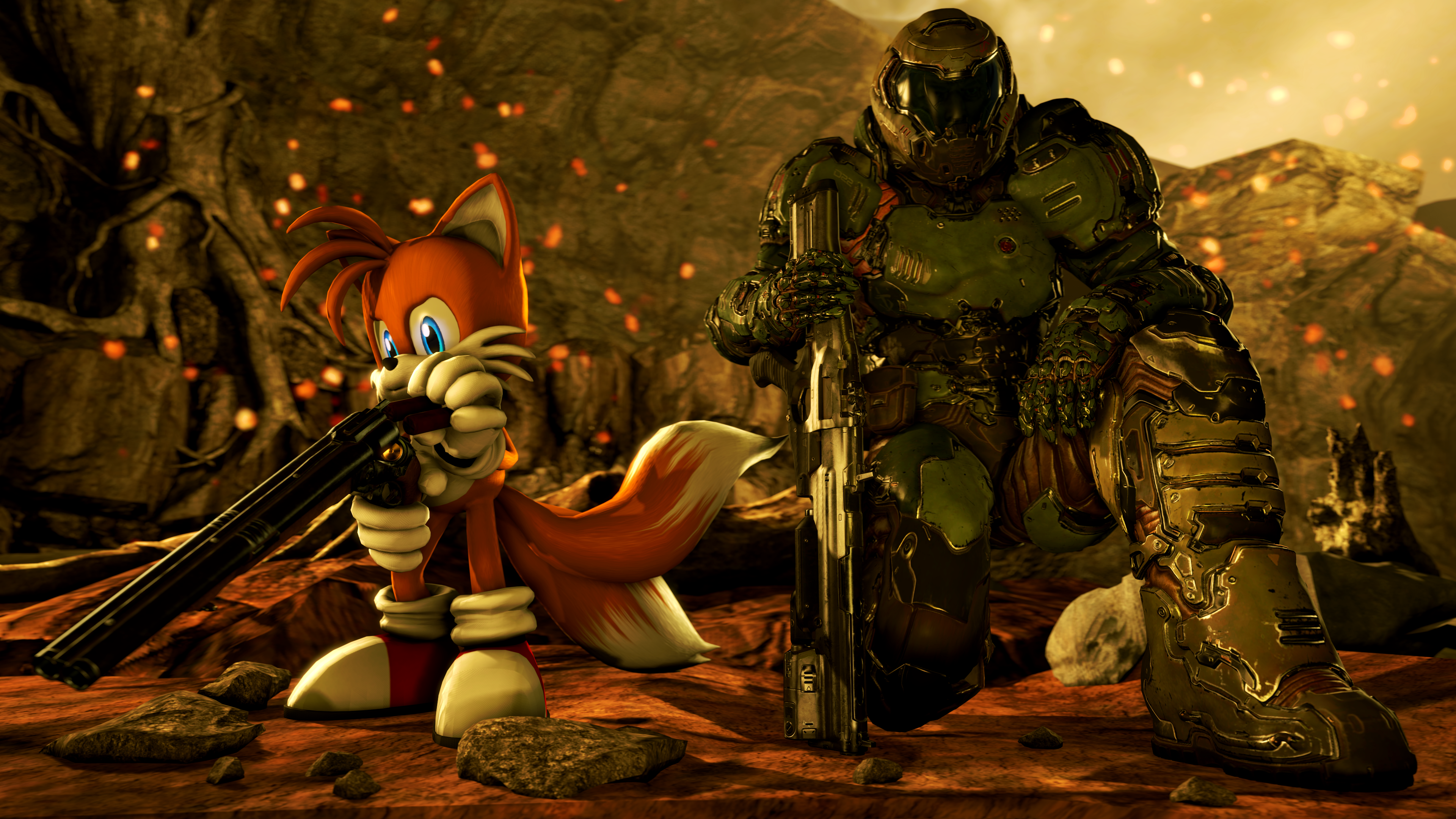 Doom Slayer And Tails Sfm By Hansgrosse1 On Deviantart