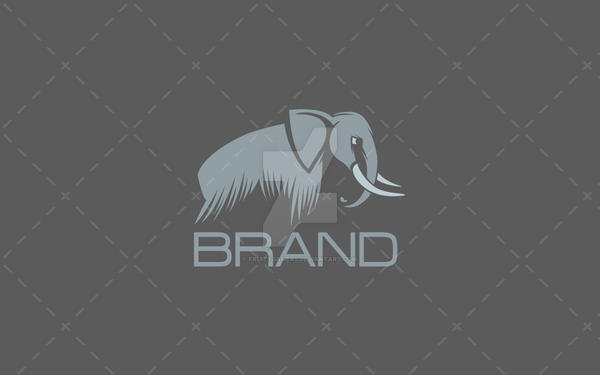 Elegant Elephant Logo For Sale by fruitygamers