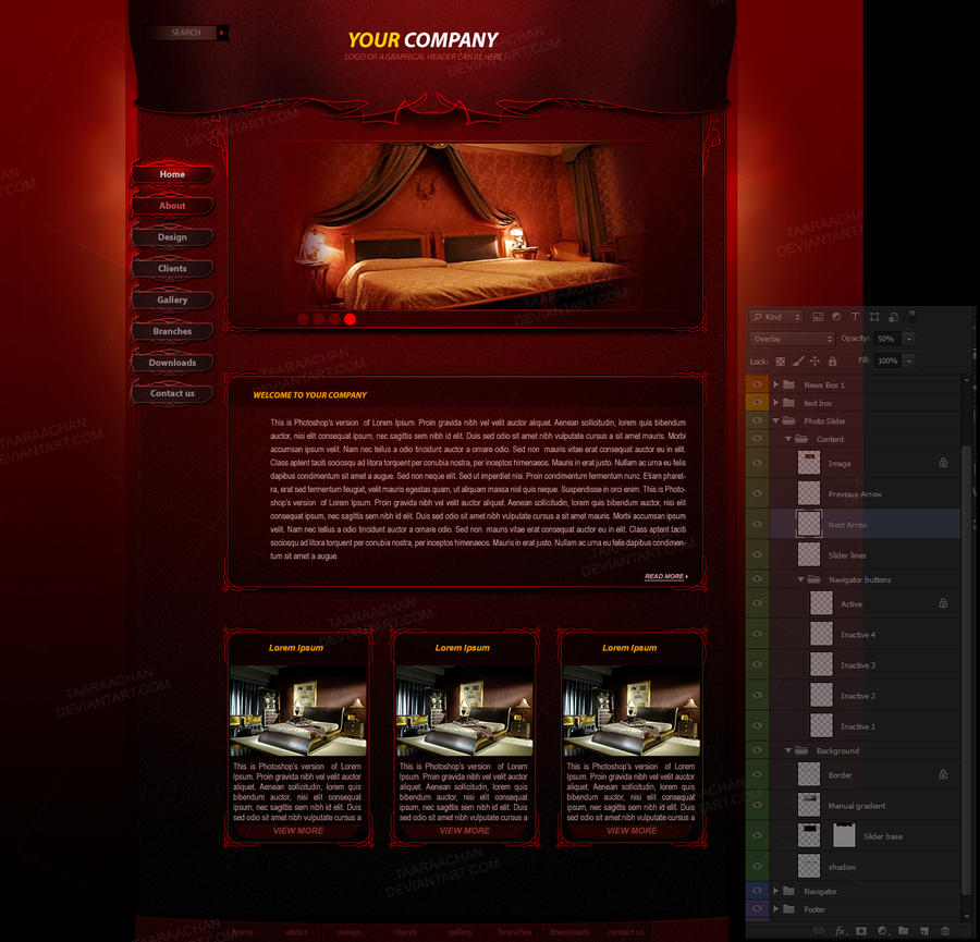 WEB TEMPLATE Classic Red by taaraachan
