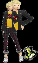 MMD Ryuji Sakamoto (Winter Uniform)Model Download by TwoSidedMMD