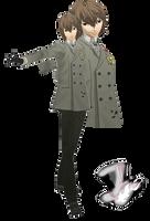 MMD Goro Akechi(Winter Suit) Model Download by TwoSidedMMD