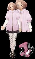 MMD Haru Okumura(Winter Uniform)Model Download by TwoSidedMMD