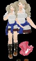 MMD Ann Takamaki(Summer Uniform)Model Download by TwoSidedMMD