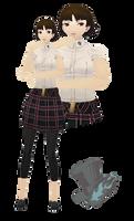 MMD Makoto Niijima(Summer Uniform)Model Download by TwoSidedMMD
