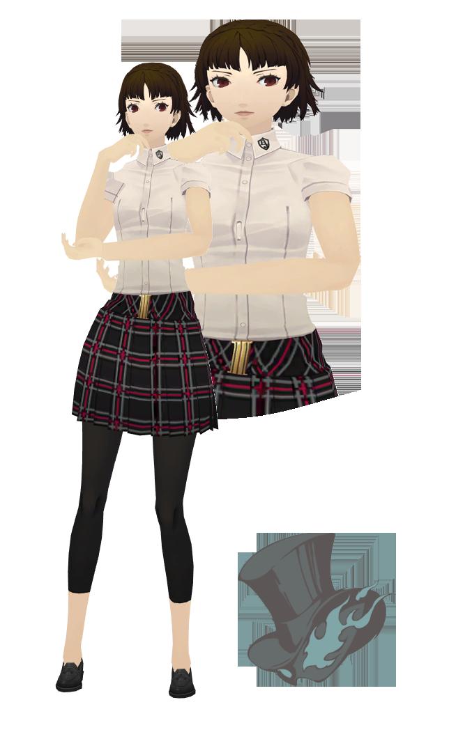 Mmd Makoto Niijima Summer Uniform Model Download By Twosidedmmd On Deviantart