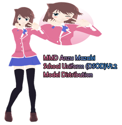MMD Anzu Mazaki(DSOD School Uniform)V1.2 Model DL