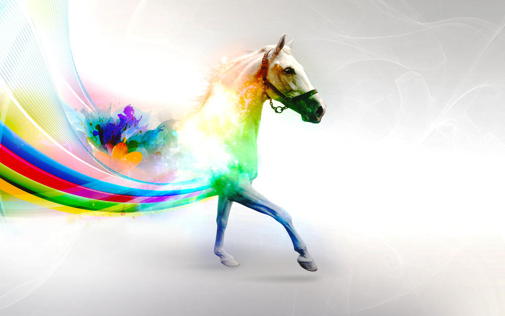 Horse Rainbow by mu6
