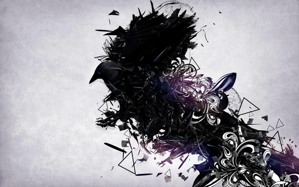 Crow Wallpaper by mu6