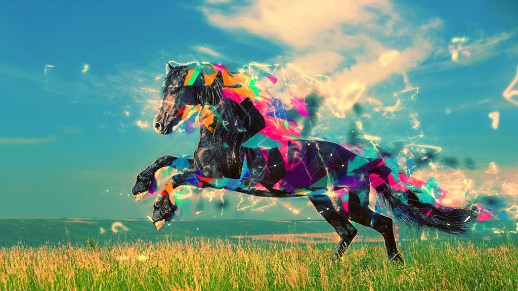 Animal horse vector wallpaper by mu6