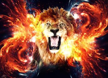 The lion head Energy Wallpaper