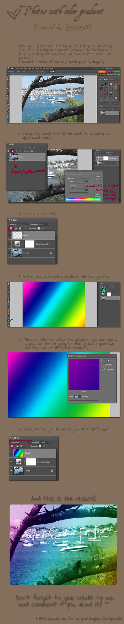 Photo color gradient tutorial by Hermy87