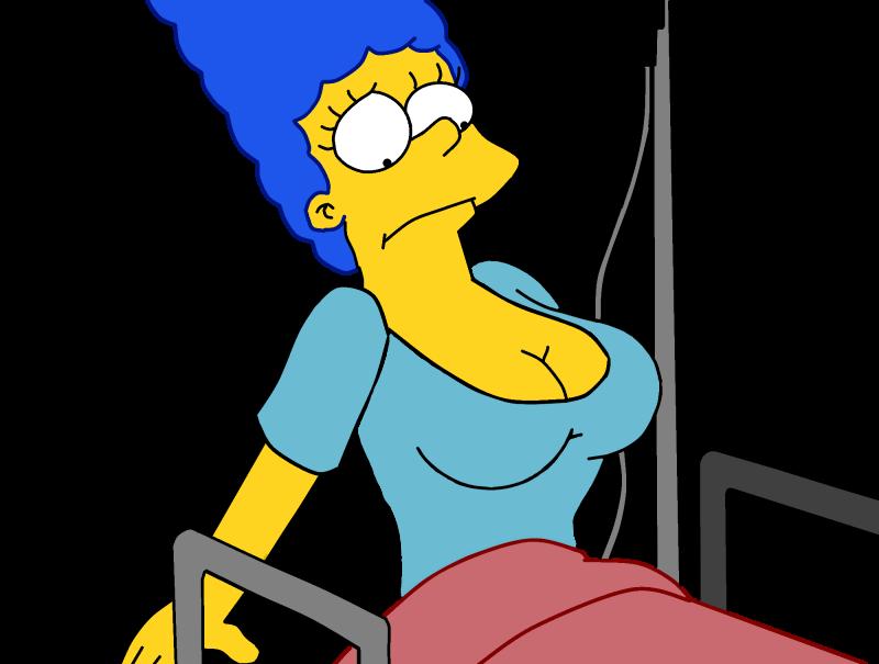 Simpsons marge boob job
