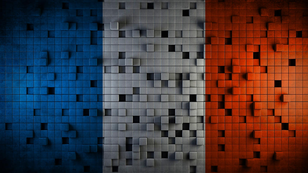 French Flag Cubes By DEATHD0G101