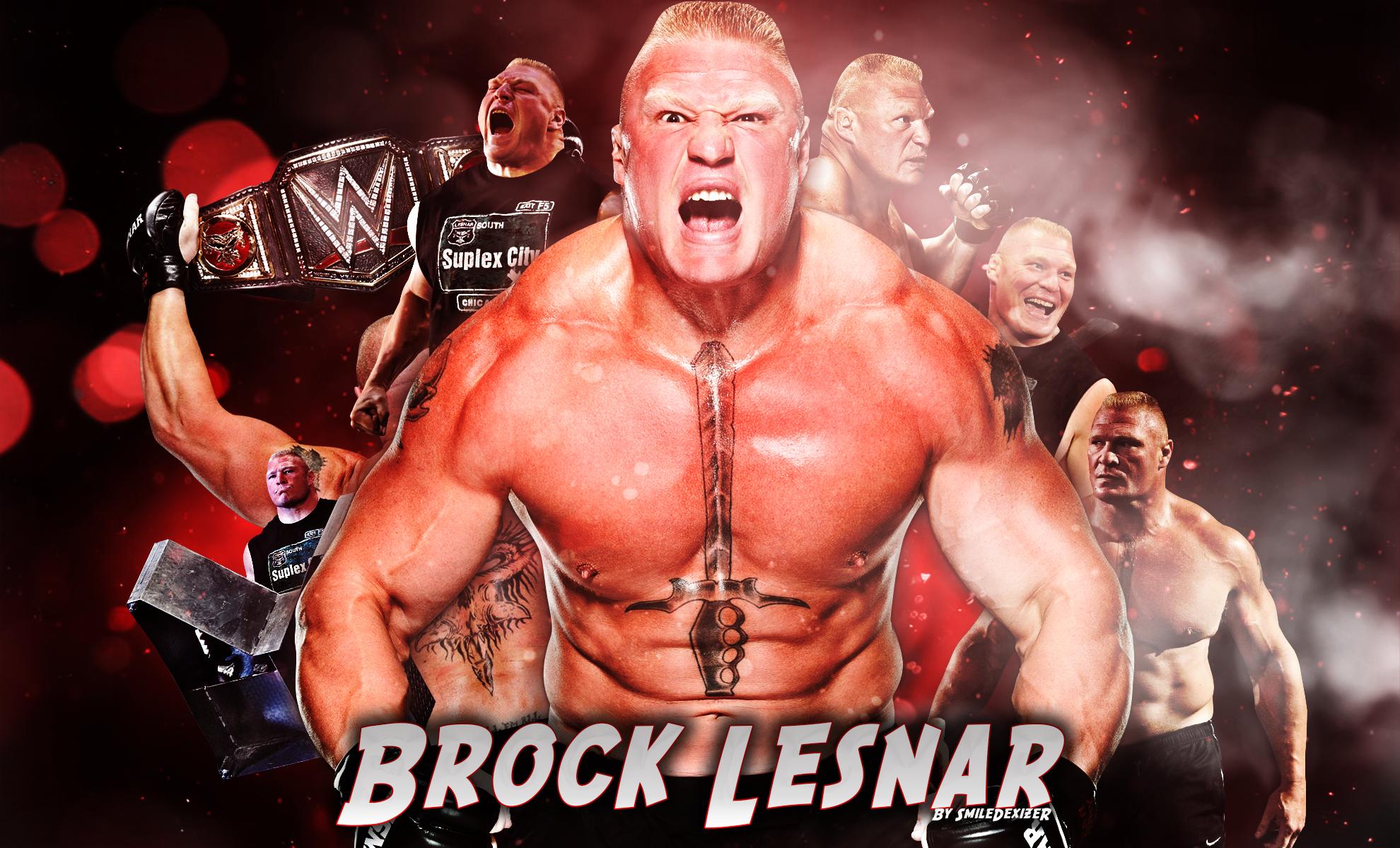 New WWE 2016 Brock Lesnar HD Wallpaper By SmileDexizeR