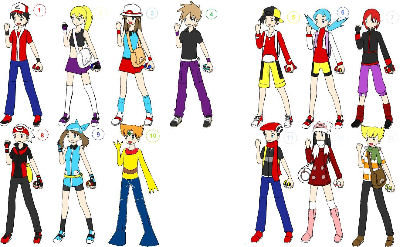 Pokemon Anime Characters : Pokemon adventures characters by bbdogie on deviantart