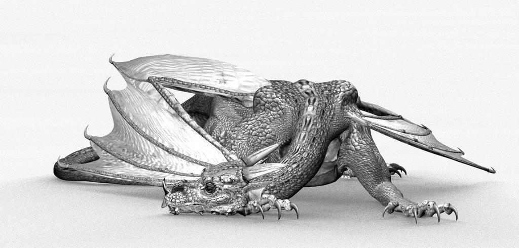 Resting Dragon by sylver-dali