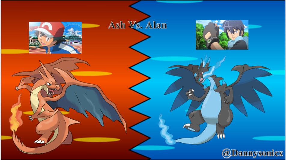 Ash Vs Alan (Mega Charizard Y Vs Mega Charizard X) by ...