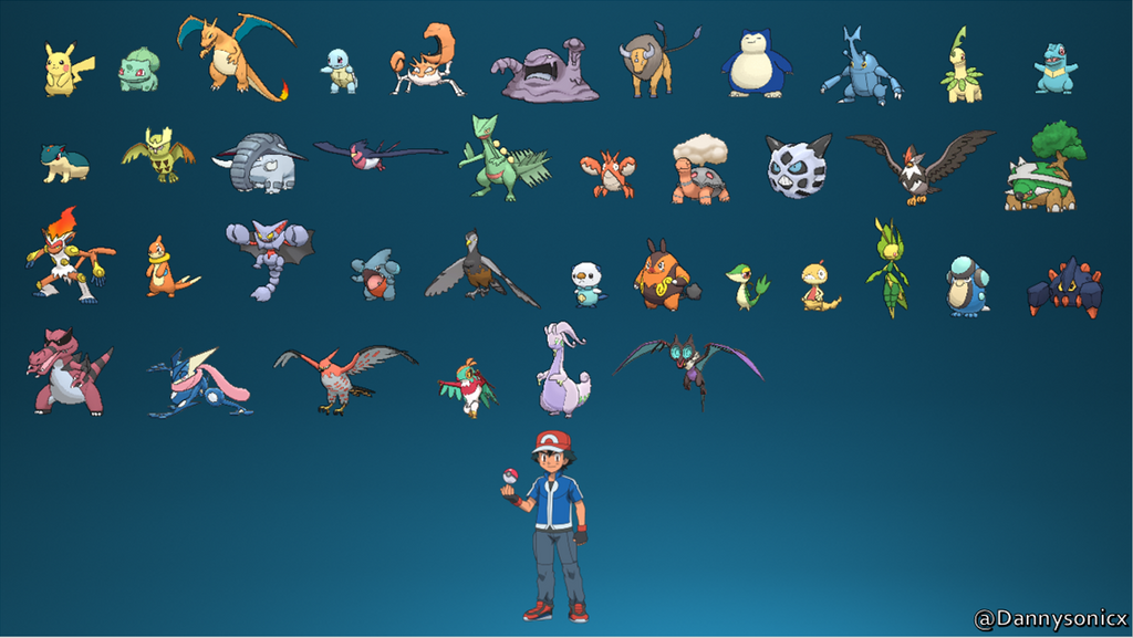 all of ash s pokemon by dannysonicx on deviantart