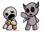 Isaac Pixels - Keeper and Apollyon by Sanguynn