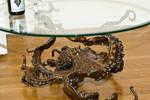 Octopus table in bronze