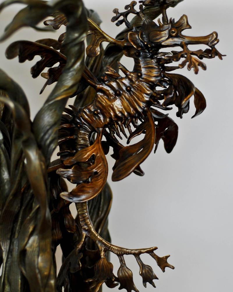 Leafy sea dragon bronze end tables by bronze4u