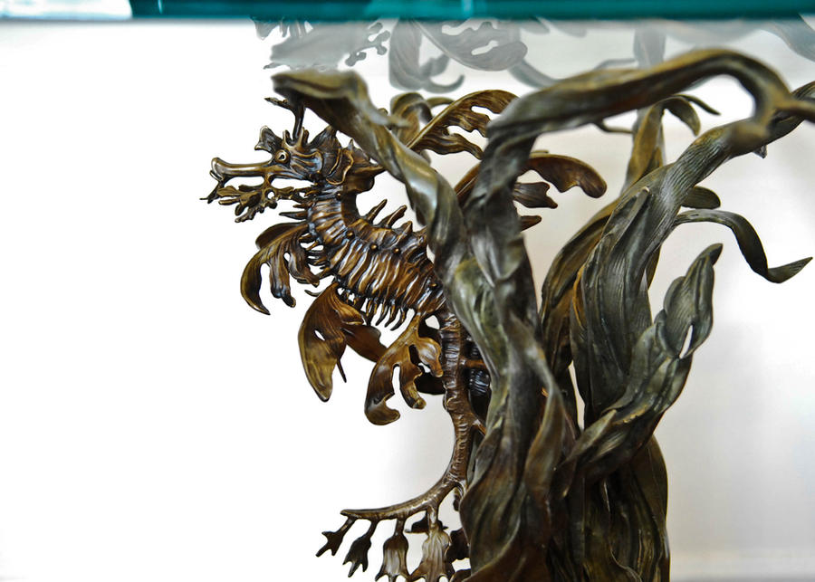 Leafy sea dragon end table in bronze by bronze4u