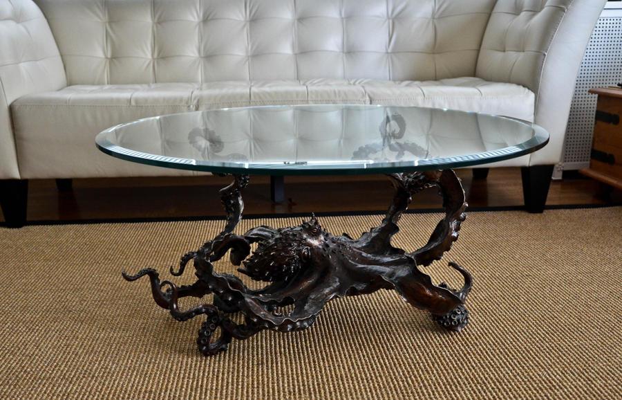 CEPHALOPOD Chic bronze octopus coffee table by bronze4u on DeviantArt