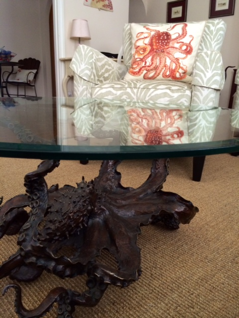 my bronze octopus coffee table in house!bronze4u on deviantart