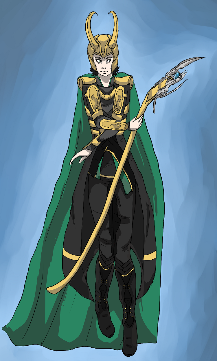 Loki, God of Mischief by mortiferaAdvocate on DeviantArt