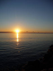 Fishing At Sunset by samelthecamel