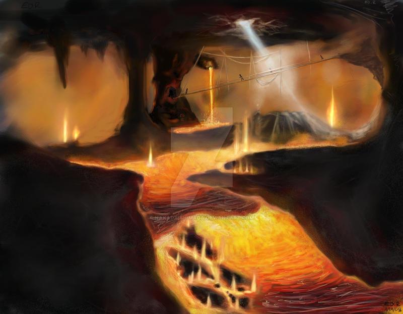 Bridge across the lava cave by NakadaiShimada