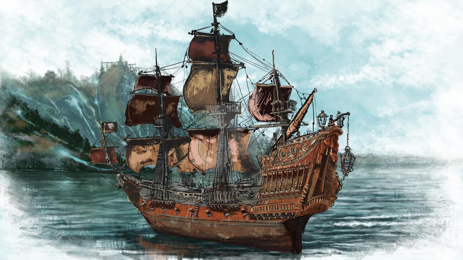 """Корабль """"месть королевы анны"""" пираты вики fandom powered by ."""