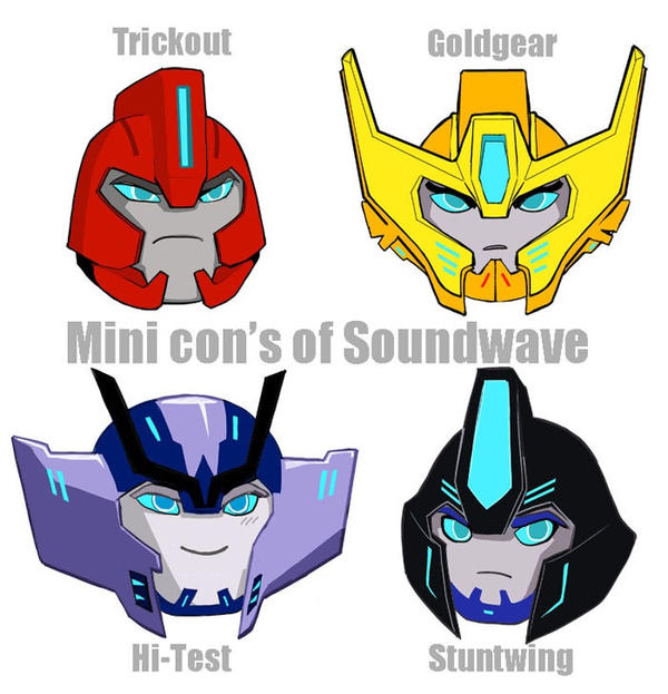 Minicon's for Soundwave by agakikama