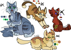 4 chonky cats adoptables (CLOSED)