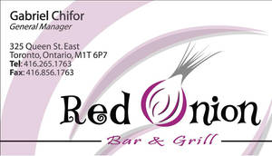 Red Onion Bar and Grill - Card by gcGraphics