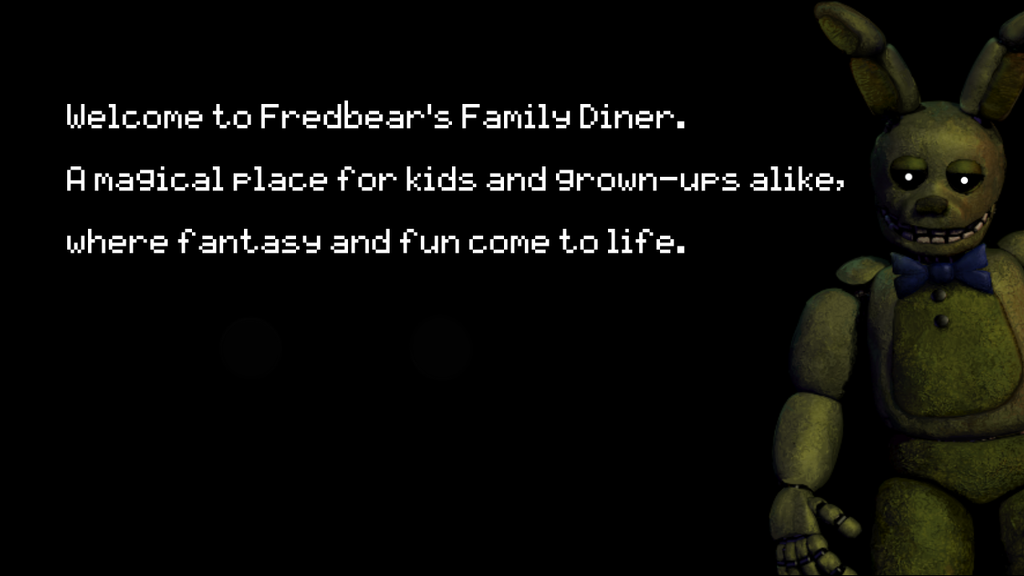 Welcome to fredbear s family diner a magical place by megasemiguy on