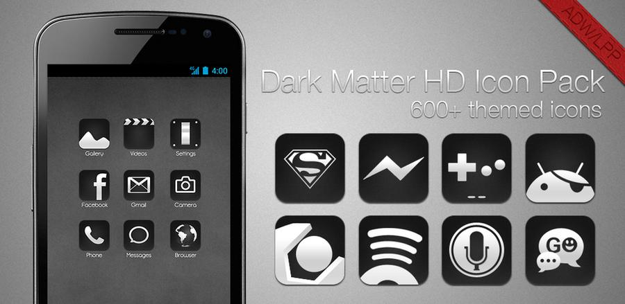 Dark Matter HD - ADW-LLP Icon pack by chrisbanks2