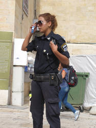 Jerusalem Policewoman by jlpicard1701e