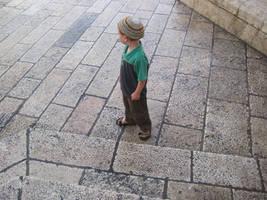 A young boy in Jerusalem by jlpicard1701e