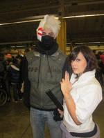 Kakashi and Sasuke at Paris Manga Expo 2012 by jlpicard1701e