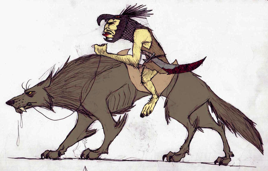 Warg-Rider by TheMorlock on DeviantArt Warg Riders Drawings