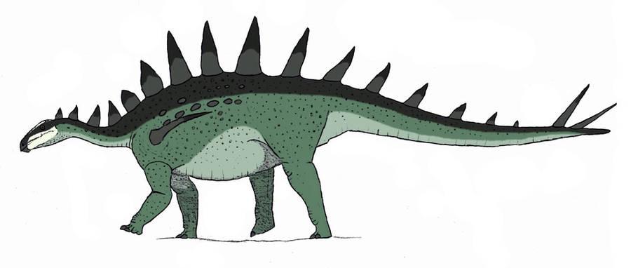 Tuojiangosaurus multispinus by TheMorlock