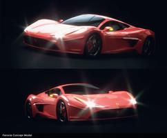 Ferocia Concept Model 3d Render by mezwik