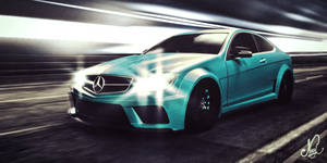 Merc C63 Amg Coupe through the tunnel