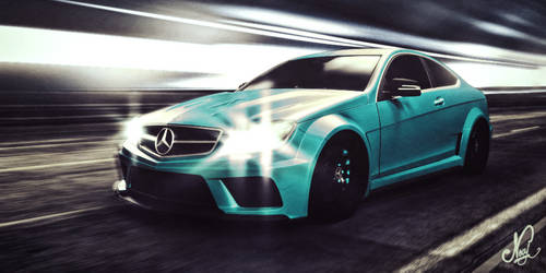 Merc C63 Amg Coupe through the tunnel by mezwik