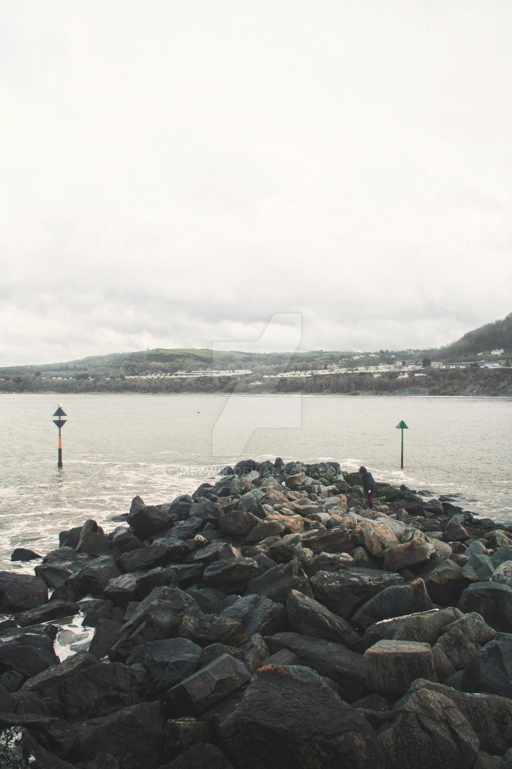 New Quay on the rocks by mezwik