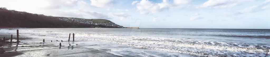New Quay Sea Edge Panorama by mezwik